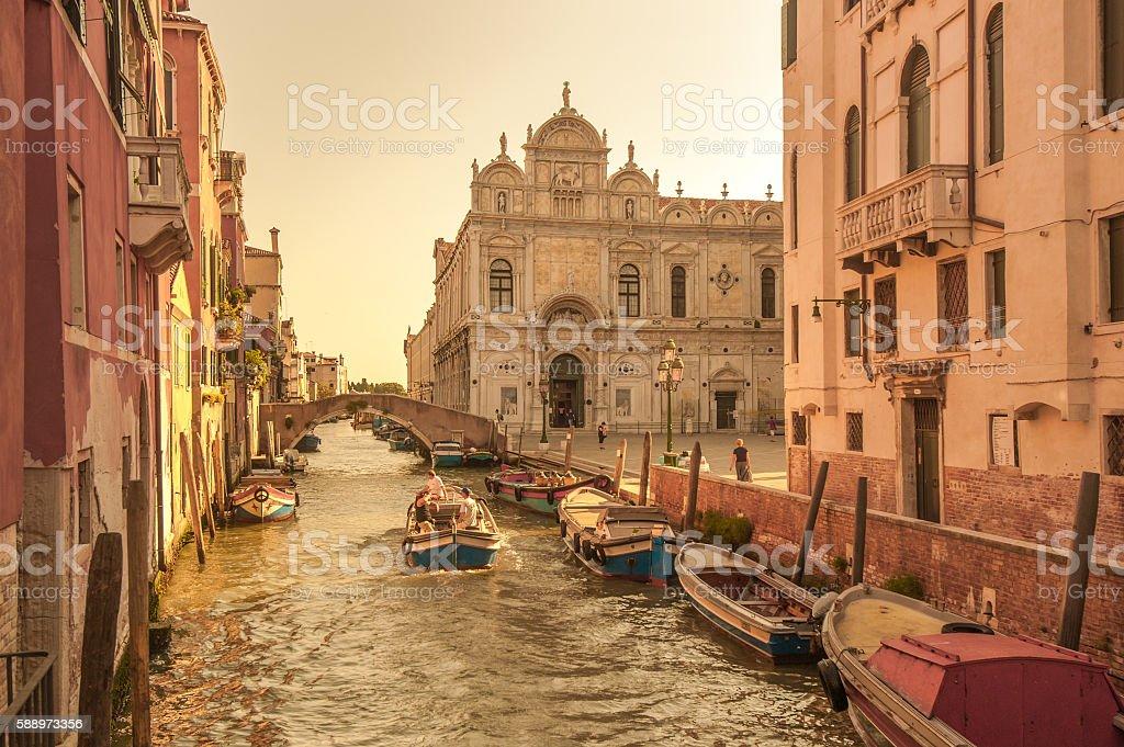 Scuola Grande di San Marco, Venice, Italy stock photo