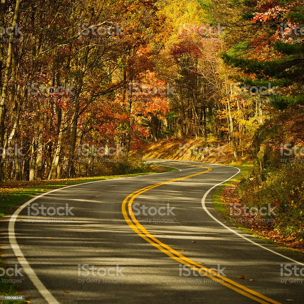 S-Curve Road, Skyline Drive Virginia royalty-free stock photo