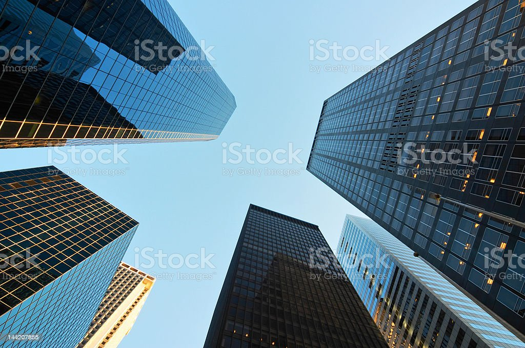 Scyscrapers in New York stock photo
