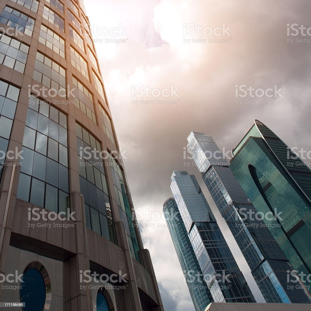 Scyscrapers of Moscow city royalty-free stock photo