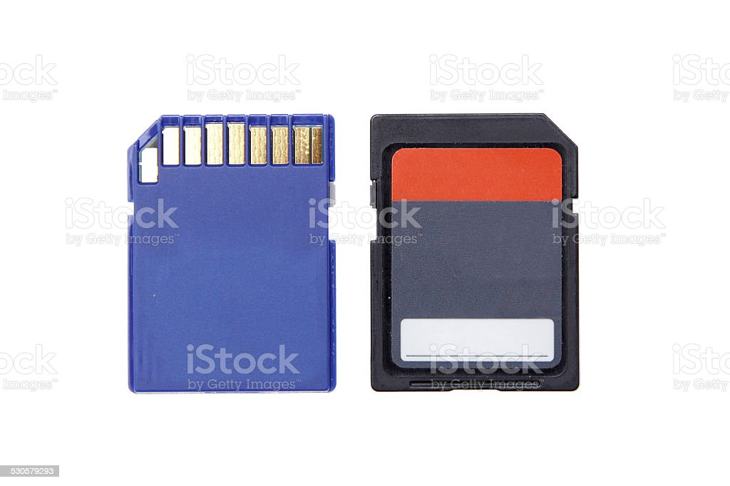 sd memory for camera computer compact flash isolated stock photo