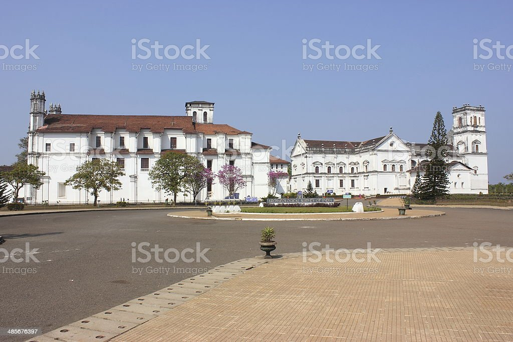 Se cathedral church in Old Goa, Goa state, India stock photo