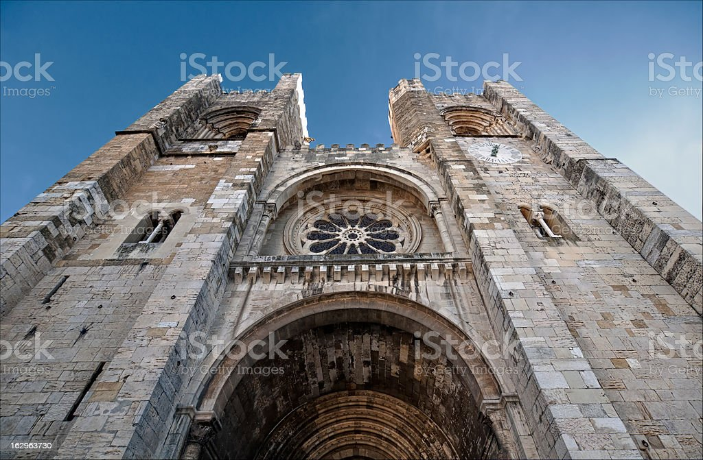 Se Cathedral in Lisbon, Portugal royalty-free stock photo