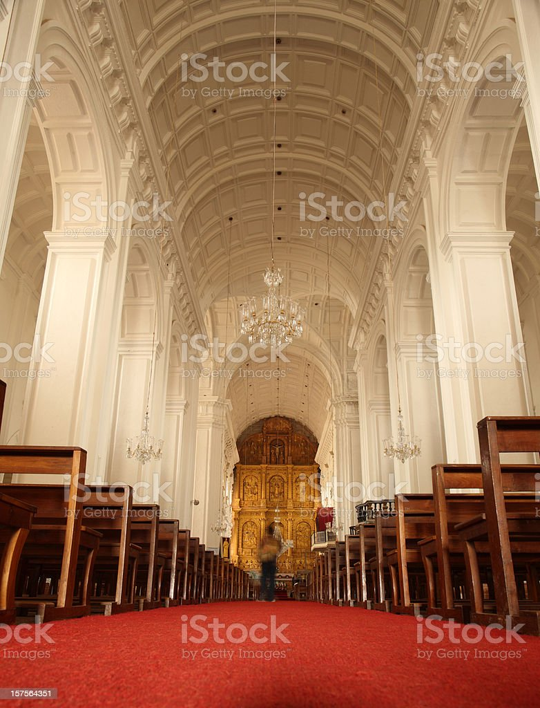Se Cathedral in Old Goa, India stock photo