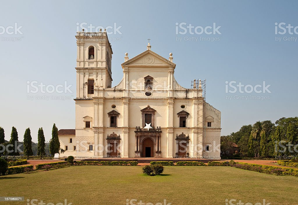 Se Cathedral in Old Goa, India royalty-free stock photo