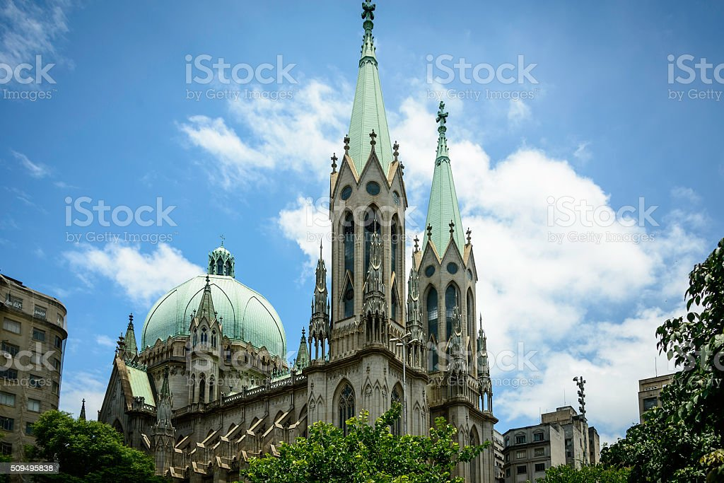 Se Cathedral, Sao Paulo, Brazil stock photo