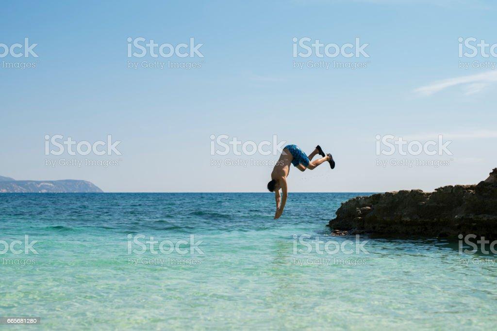 Sea Acrobatics stock photo