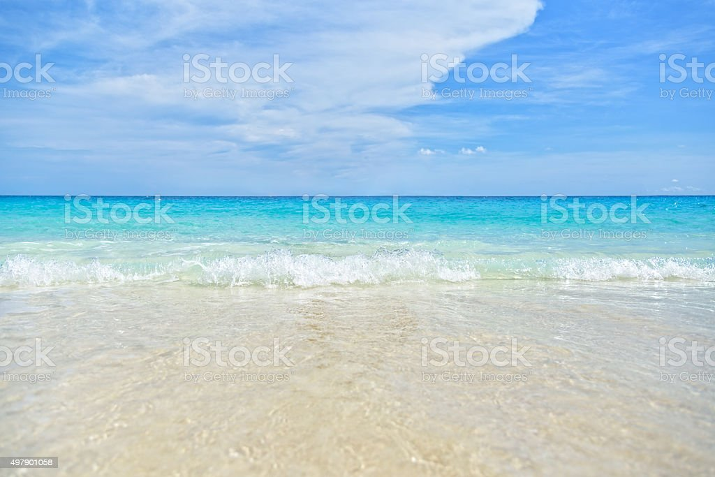 Sea and Beach background stock photo