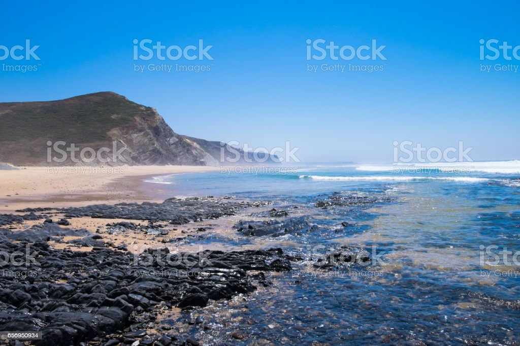 Sea and Beach in Portgual stock photo