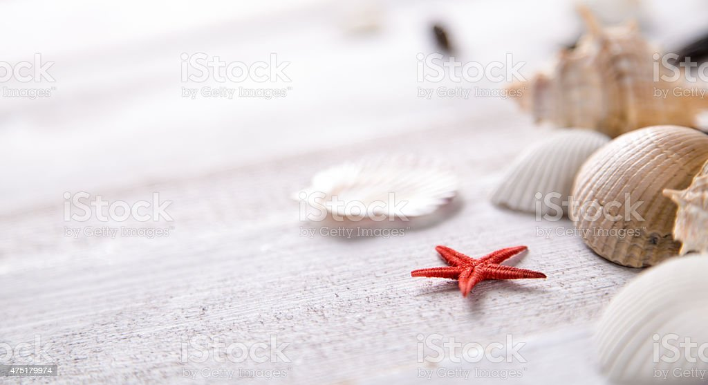 Sea and beach, natural colorful concept stock photo
