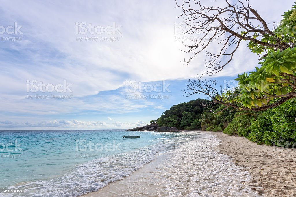 Sea and beach of Similan island in Thailand stock photo