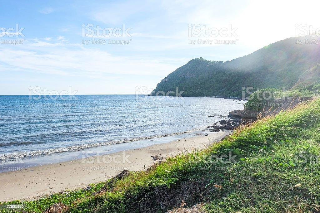 Mar y el cielo azul foto de stock libre de derechos
