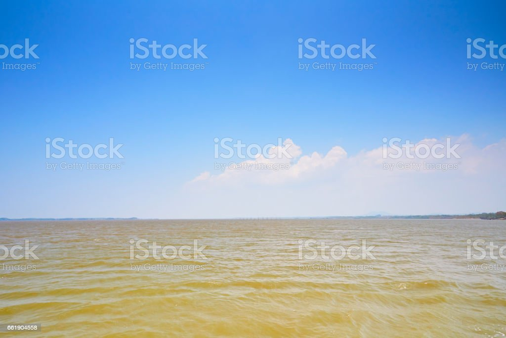 Sea and blue sky stock photo