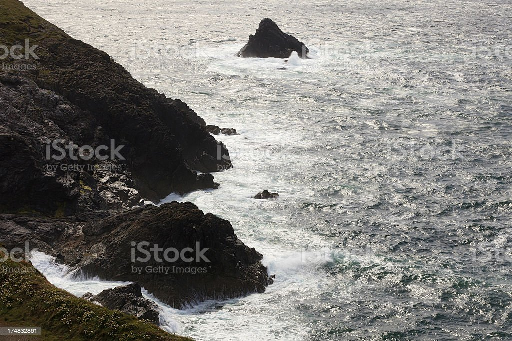sea and cliffs at Trevose Head royalty-free stock photo