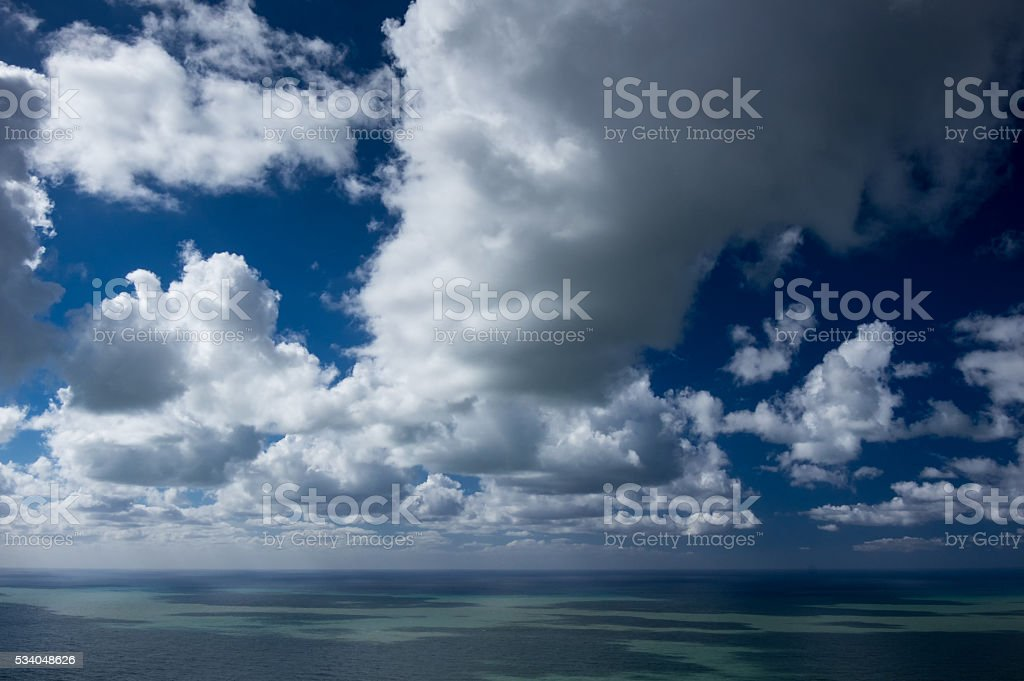 Sea and clouds stock photo