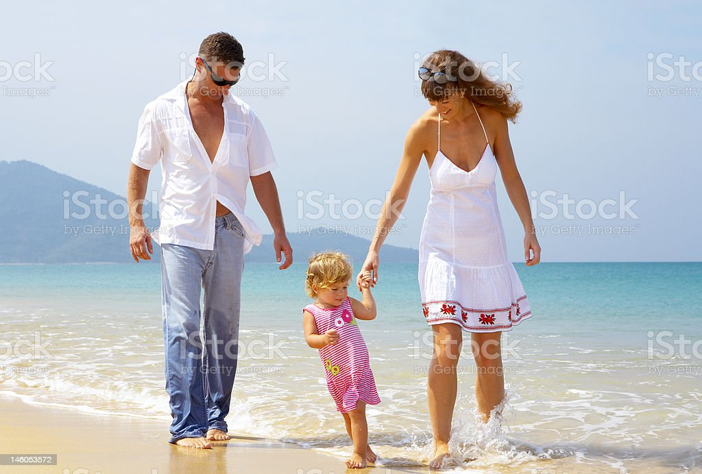 sea and family royalty-free stock photo
