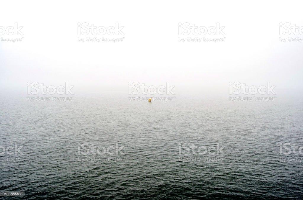 Sea and fog stock photo