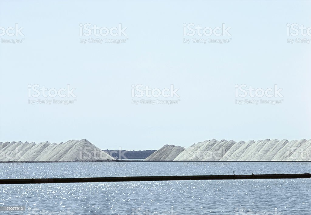 Sea and salt production royalty-free stock photo