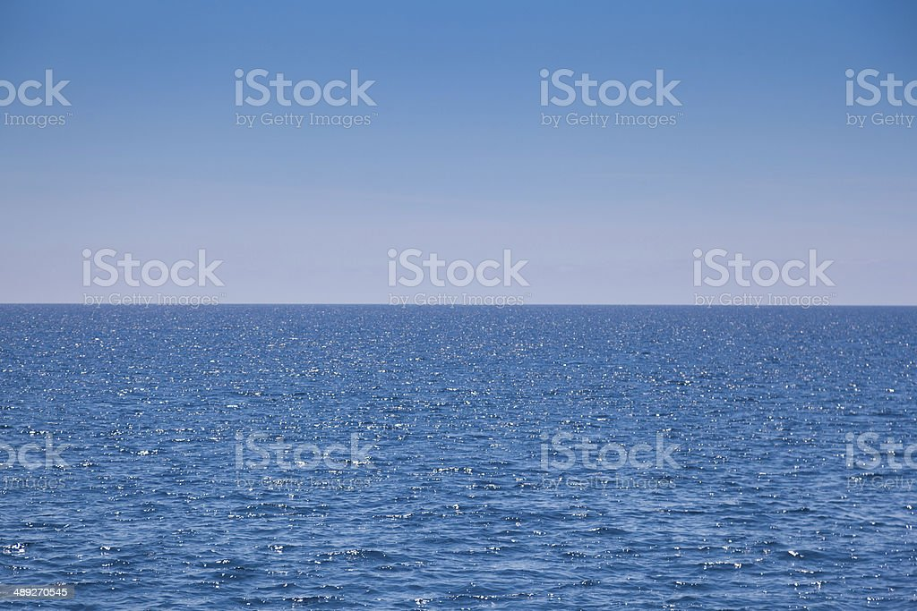 Sea and sky stock photo