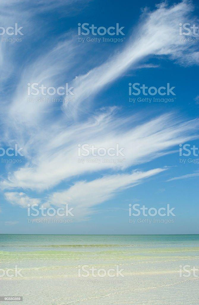 Sea and Sky royalty-free stock photo