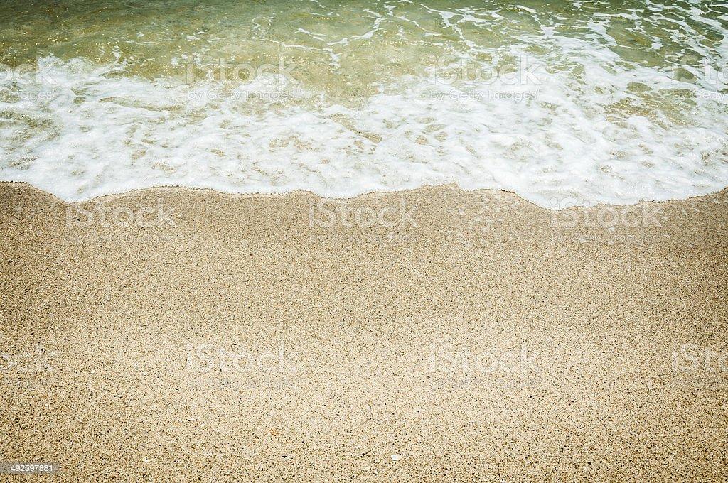 sea and the beach stock photo