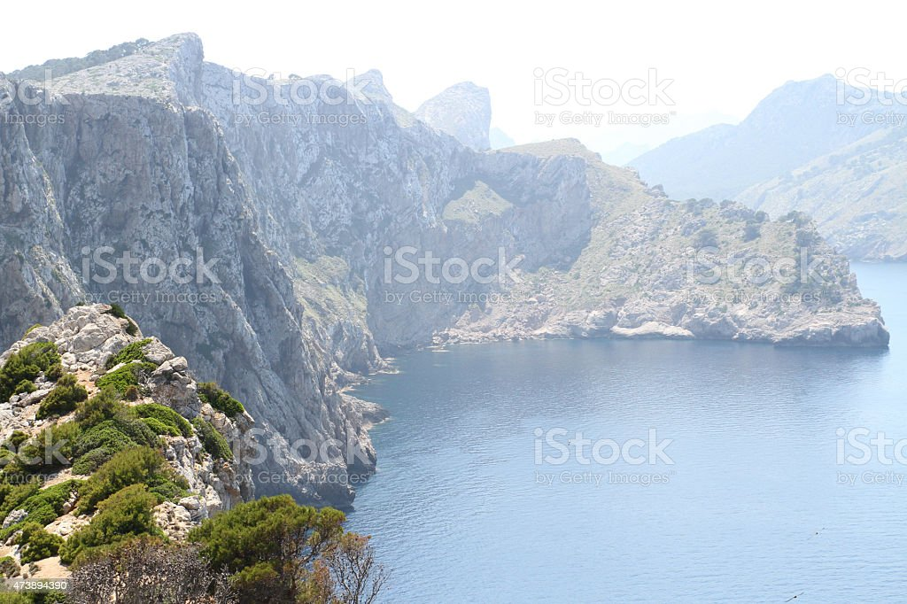 Sea and the mountains by the side royalty-free stock photo