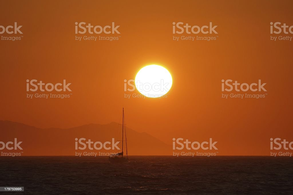 Sea and the Sun royalty-free stock photo
