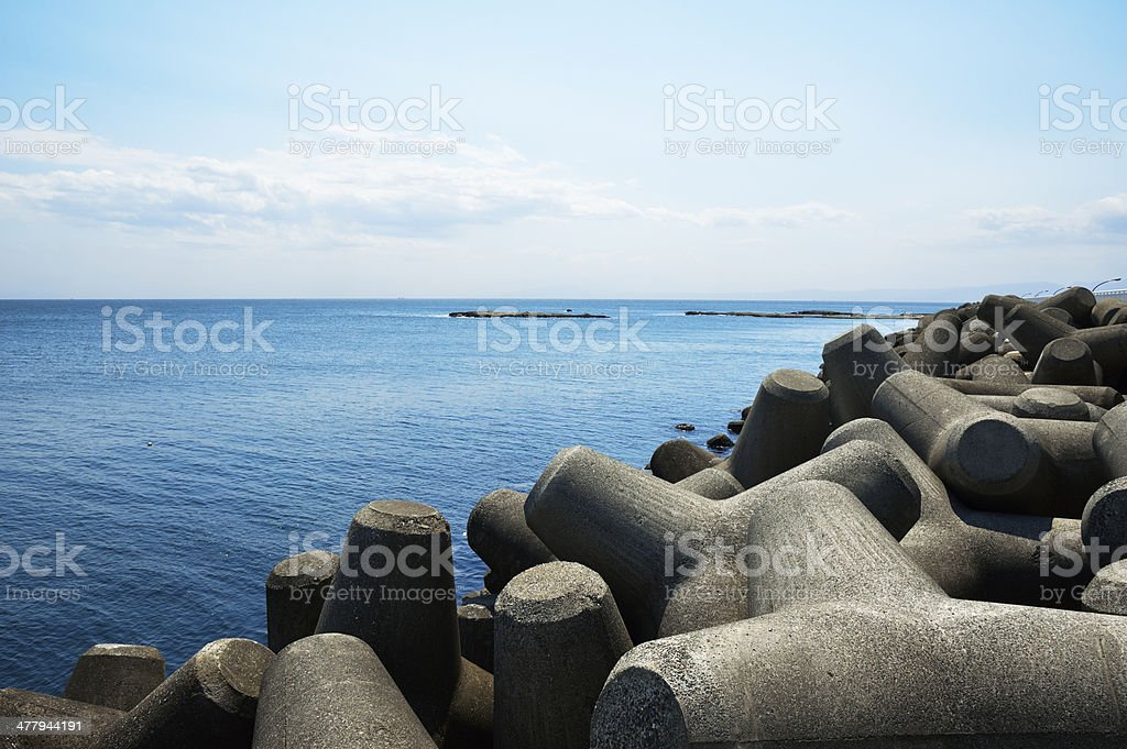 Sea and Waterbreak stock photo