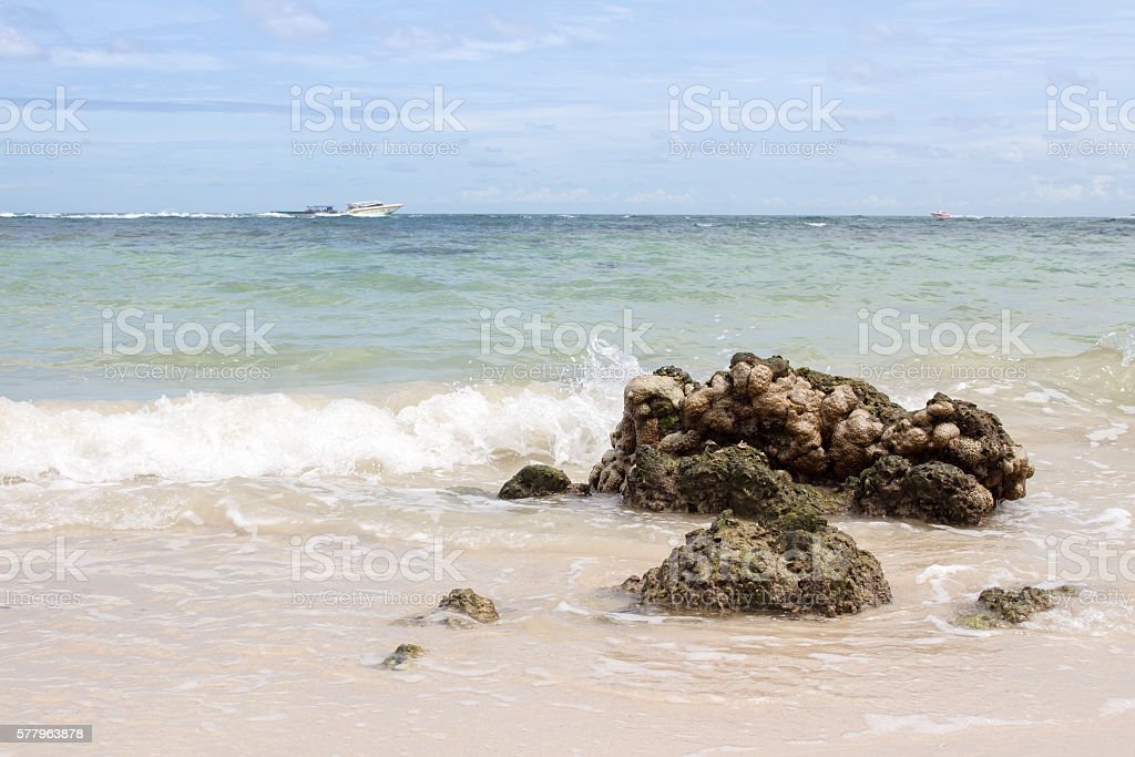 sea and wave stock photo