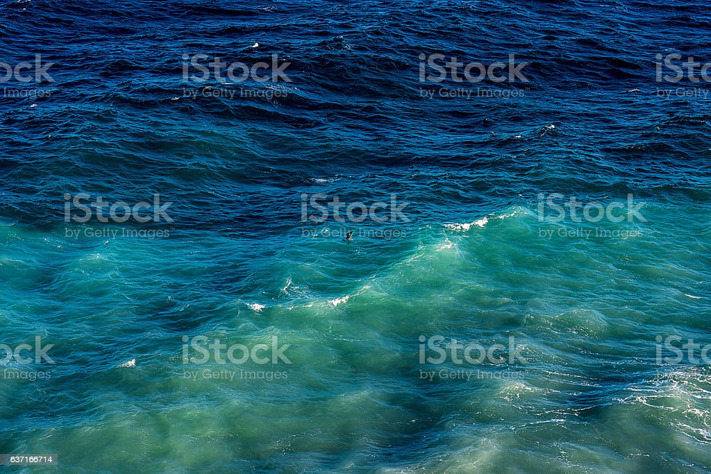 sea and waves stock photo