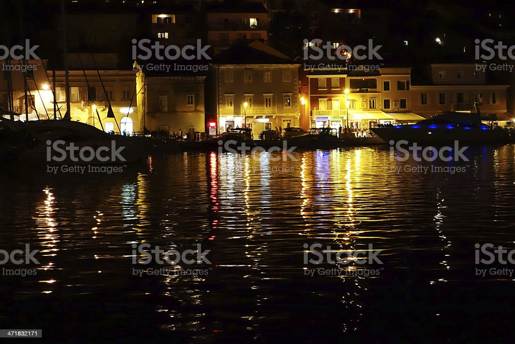 Sea at night royalty-free stock photo