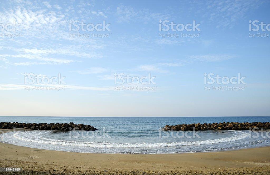 Sea at Santa Severa stock photo