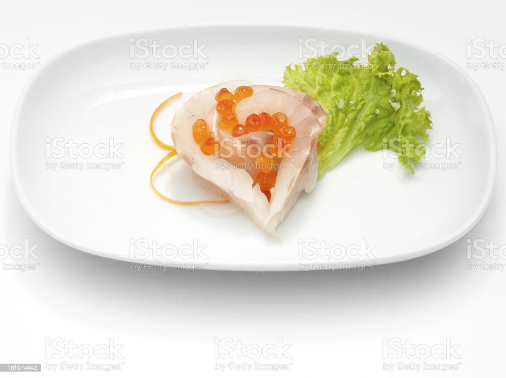 Sea bass sashimi royalty-free stock photo