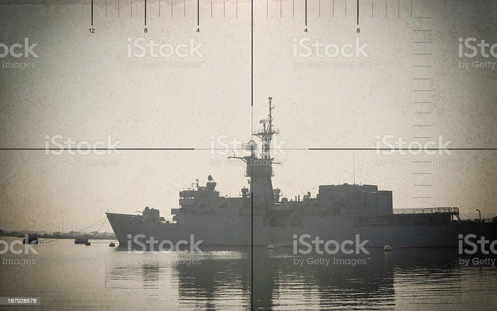 Sea Battle stock photo