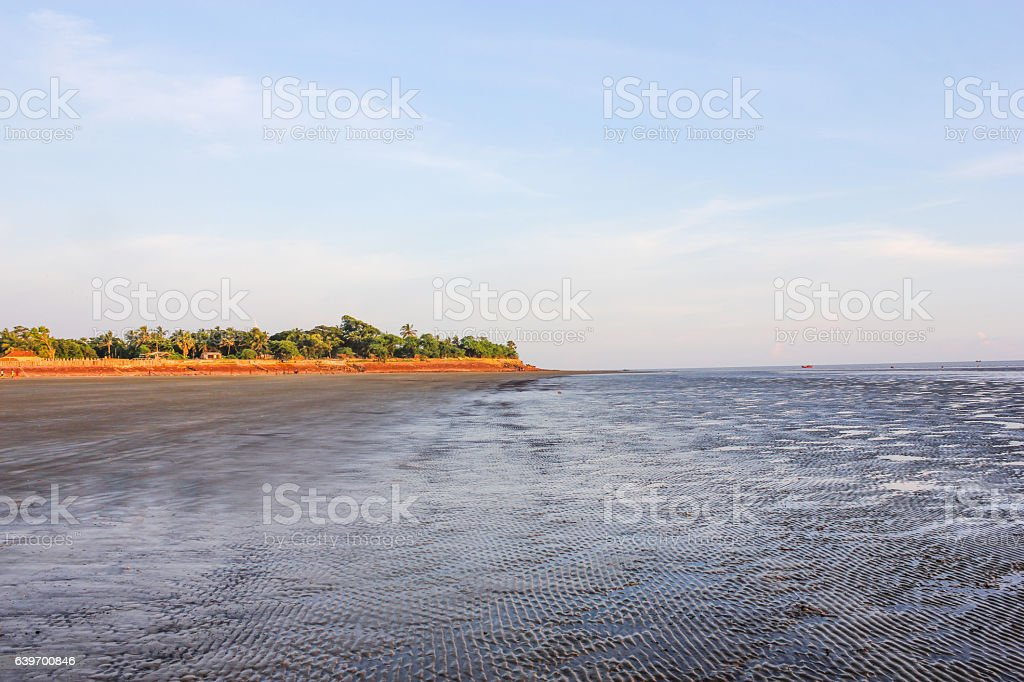 Sea beach in bakkhali, West Bengal, India stock photo