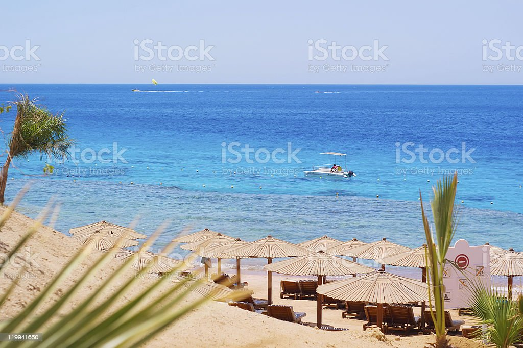 Sea beach paradise stock photo