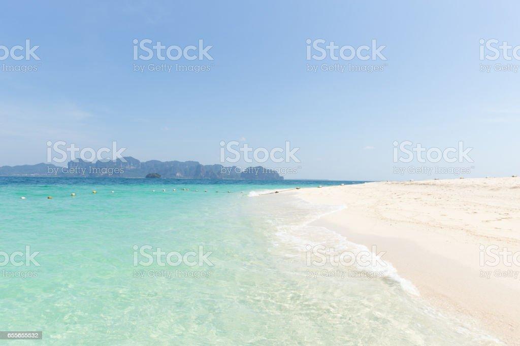 Sea beach, seascape of Thailand ocean travel background in Summer season. stock photo