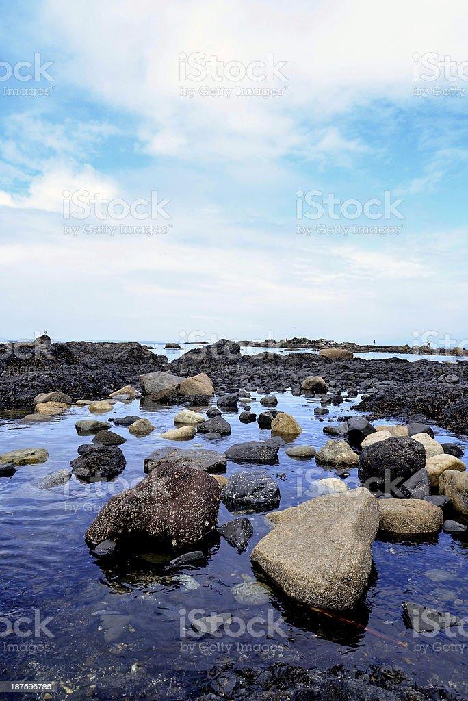 Sea boulders royalty-free stock photo