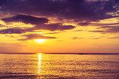 sea calm, sunrise