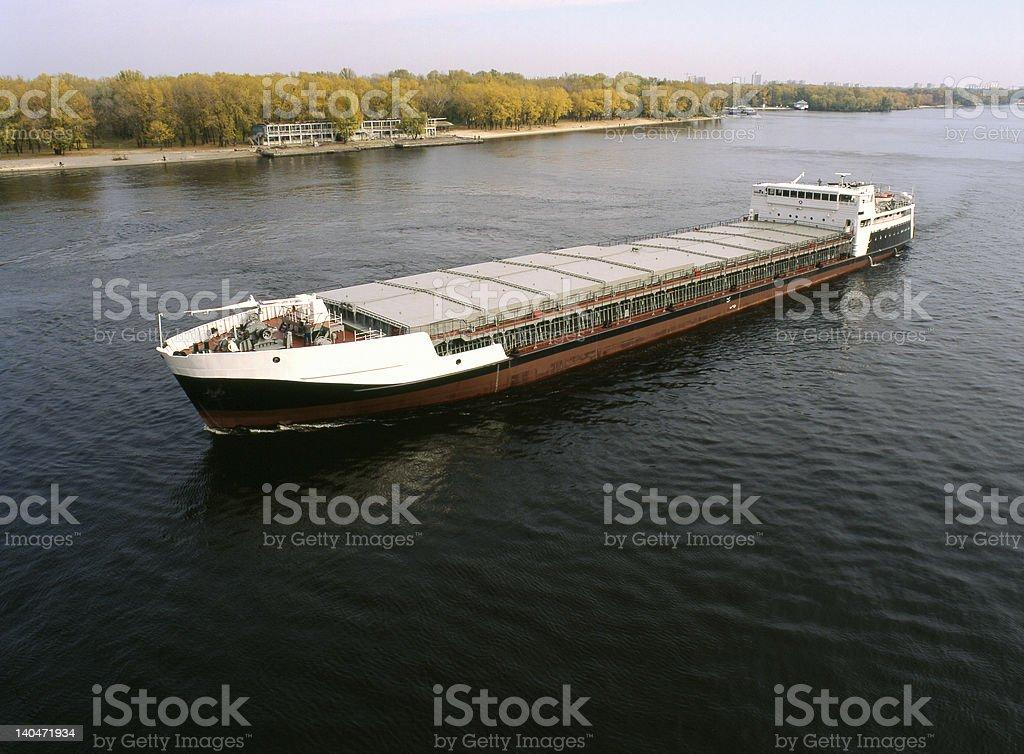Sea cargo transportations stock photo