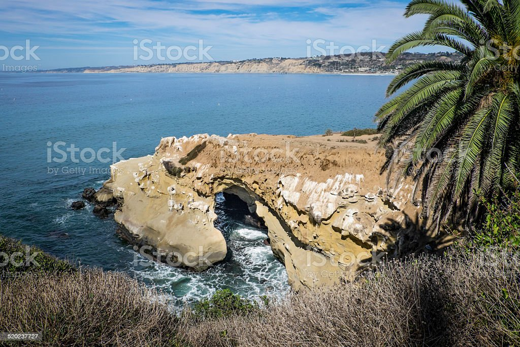 Sea Cave in La Jolla stock photo