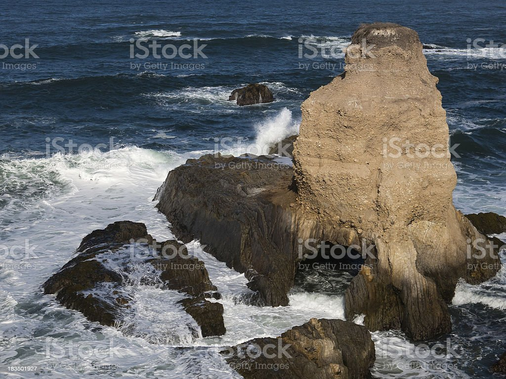 Sea Cave, Montana de Oro, California stock photo