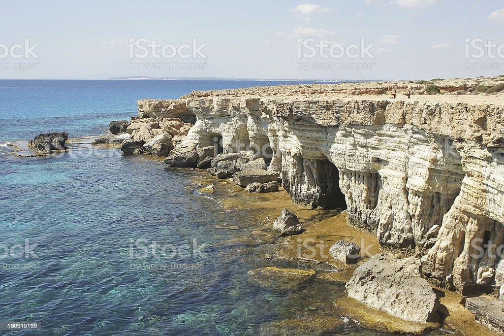 Sea Caves, Cyprus, Europe stock photo