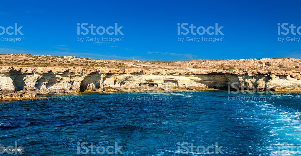 sea caves made by nature stock photo