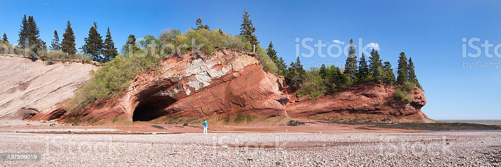 Sea Caves of St Martins stock photo