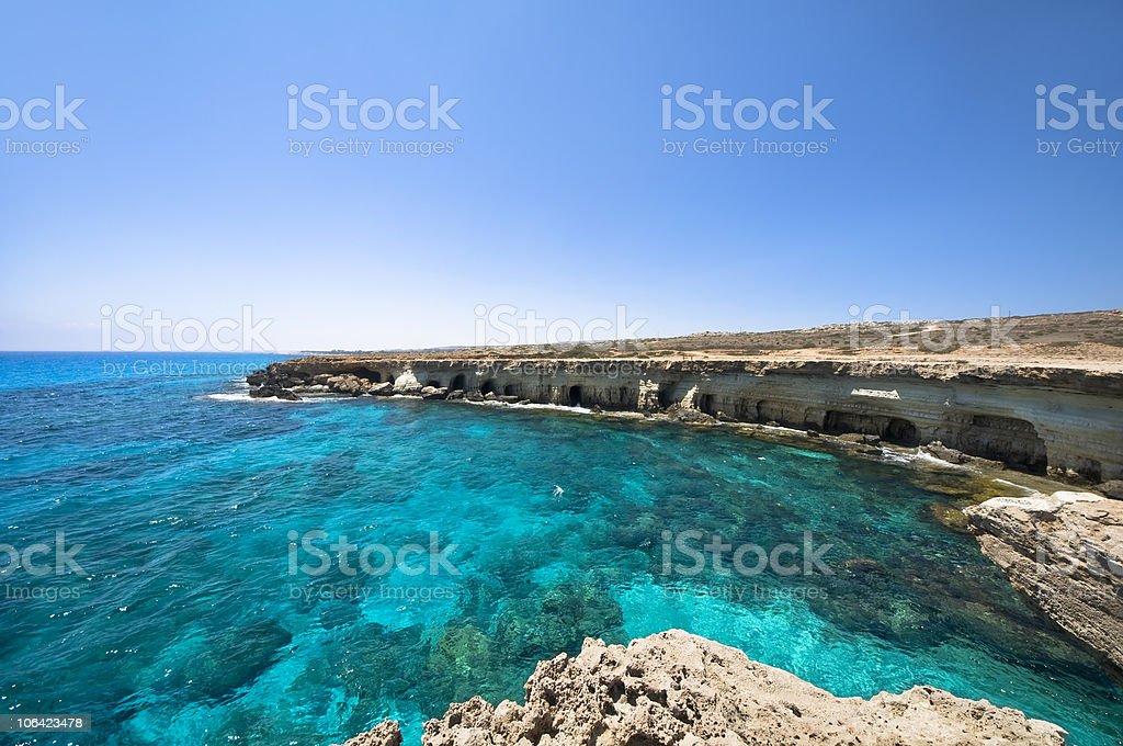 Sea Caves stock photo