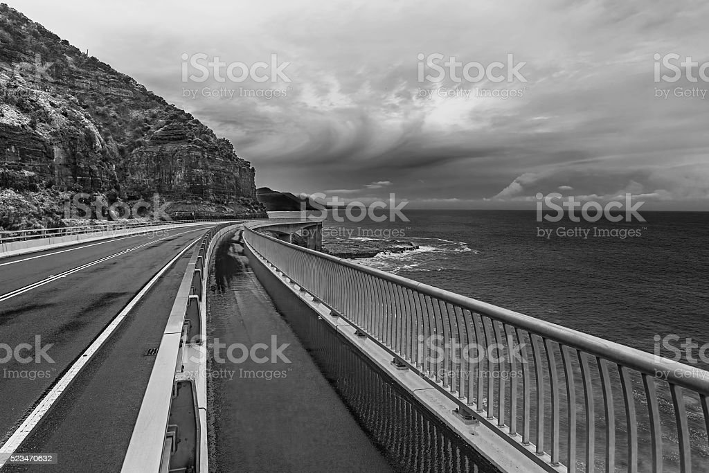 Sea Cliff Bridge Grand Pacific Drive Australia stock photo