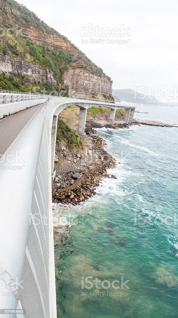 Sea Cliff Bridge, Grand Pacific Drive, NSW, Australia stock photo