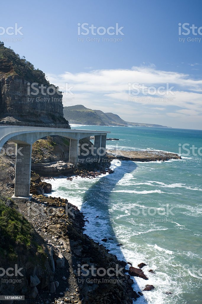sea cliff bridge royalty-free stock photo