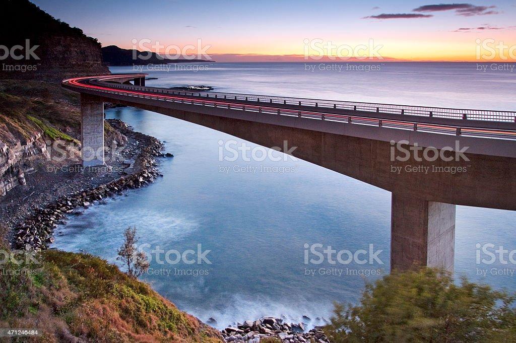 Sea Cliff Bridge stock photo